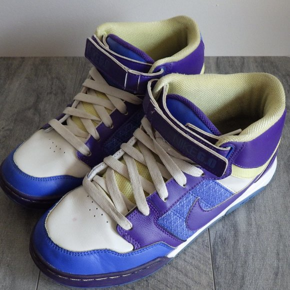Nike Air Morgan 6.5 Skate Hi High Top Purp/Blue 10